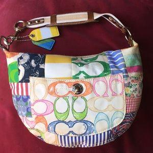 Colorful Coach Monogram Hobo Bag